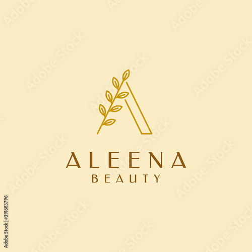 Photo Alena Beauty, salon, cosmetic, woman logo