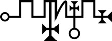 Vector Seal Of Zagan Goetic Sigil Daemon Spirit From The Ancient Goetia Gods And Demons Seals Occult Magic Ritual Symbol