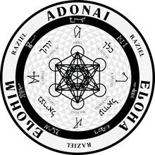 Vector Grand Seal Of Angelic Protection Angels Archangels Magic Mystical Sigil Seals Of Magick Occult Pagan Christian Hebrew Wiccan Witchcraft Mysticism