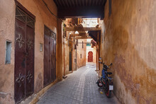 Empty Narrow Streets Of The Me...