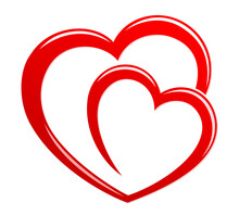 Symbol Of The Stylized Red Heart.