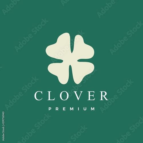 Fototapeta clover leaf logo vector icon illustration