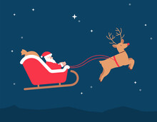 Christmas Santa Sleigh Reindee...