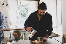 Male Barista Preparing Fresh E...