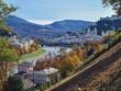 Salzburg (Austria) inner city. Fortification, fall.