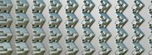 3D Abstrakte Grundform, Spiegleleffekt, Kunst, Monocrom
