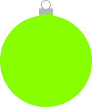 Lime Green Simple Christmas De...