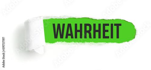 Photo Zerrissenes Papier - Wahrheit