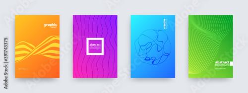 Obraz Abstract background design, set of modern patterns, vector illustration - fototapety do salonu