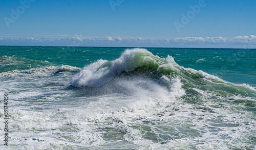 Fotografia Photo prise à Menton lors de la tempête Alex