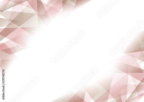 Tela エレガントなクリスタルのような幾何学背景ピンクと茶色