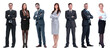 Leinwandbild Motiv group of successful business people standing in a row.