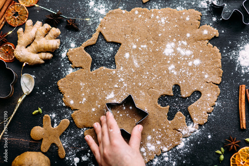 christmas gingerbread cookies фототапет