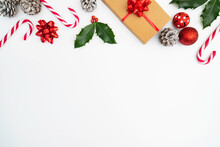 Flat Lay Christmas Theme Backg...