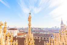 Roof Of Milan Cathedral Duomo ...