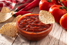 Spicy Chili Sauce In Bowl With...