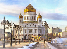 Christ The Saviour Cathedral Colorful Painting Looks Like Picture