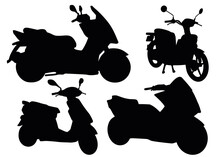 Mopeds In A Set. Mototechnics.