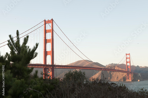 фотография Panoramic view of golden gate bridge san Francisco