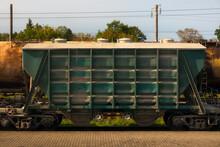 Old Rusty Cargo Train Wagon On...