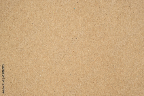 Obraz Texture of brown craft or kraft paper background, cardboard sheet, recycle paper, copy space for text. - fototapety do salonu