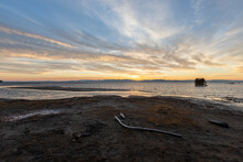 Sunset At Lake Champlain In Vermont