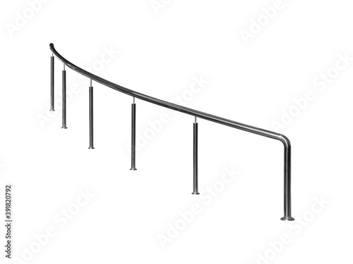 Billede på lærred Curved stainless steel railings.