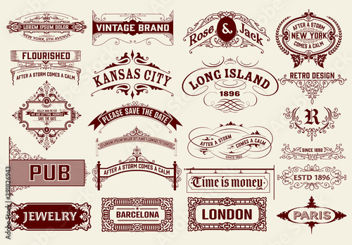 Set of 22 Vintage Logos and Badges