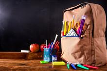 School Blackboard With Attribu...