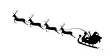 Christmas Sleigh Santa Fly In ...