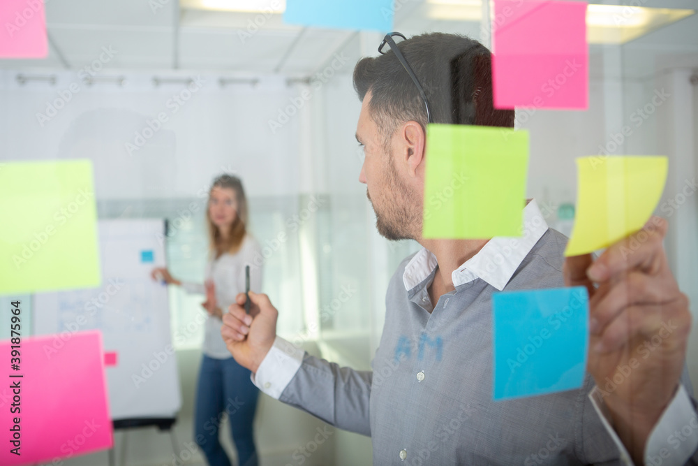 Fototapeta businesspeople discussing and planning concept