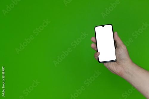 Fototapeta Ręka ze smartfonem #5 obraz