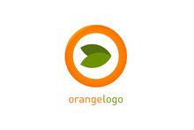 Orange Logo In Modern Flat Sty...