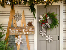 Christmas Wreath Hanging On A ...