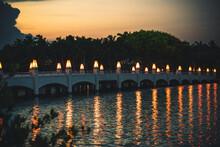 View Sunset Night Illuminated ...