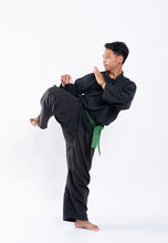 Men Wearing Pencak Silat Unifo...