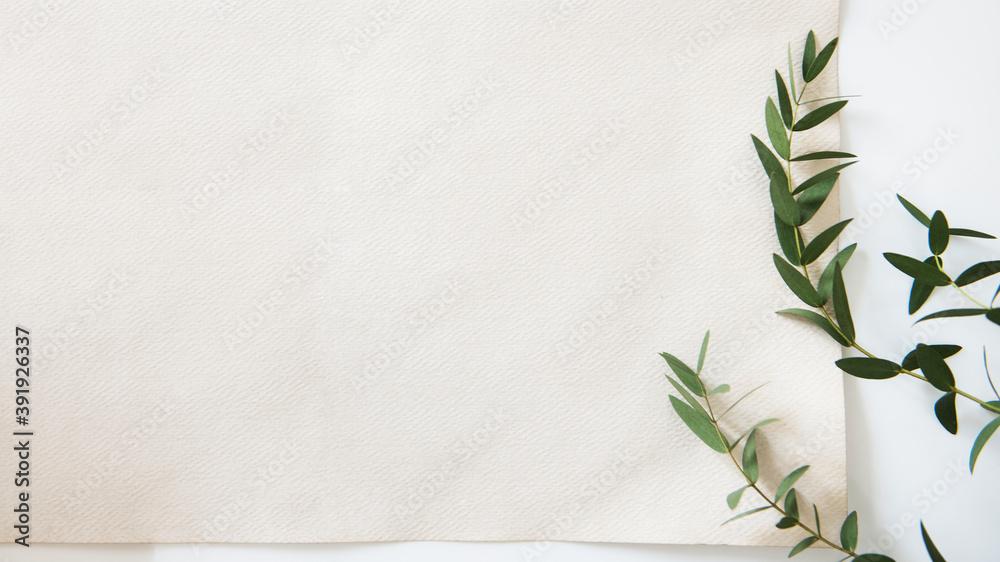 Fototapeta Nature concept paper mockup