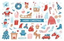 Set Of Merry Christmas Hand Dr...