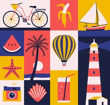 Vector Summer Illustration, Fl...