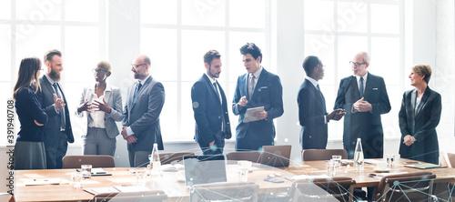 Business people networking Fotobehang