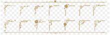 Decorative Gold Frame Set Vect...