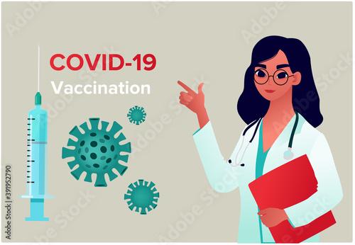 Fotografia, Obraz COVID-19 Virus Vaccine poster