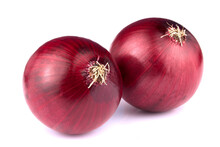 Red Onion Isolated On White Ba...