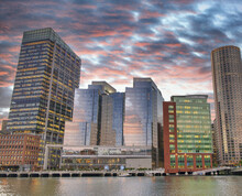 Boston Waterfront Skyline. Cit...