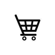 Shopping Cart Icon. Purchase Symbol. Sign For Application And Website Decoration. Vector Graphics.