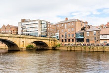 York, Yorkshire, United Kingdom - SEP 3, 2019: York City With River Ouse In York UK.