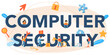 Computer security typographic header. Idea of digital data