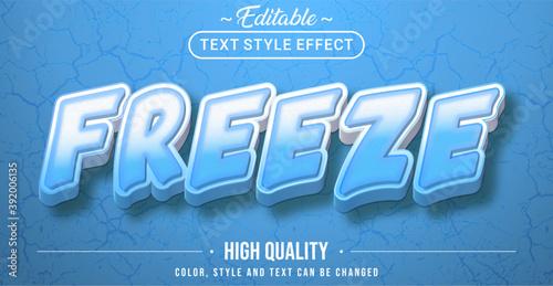 Fototapeta Freeze text effect - Editable text effect obraz