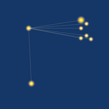 Constellation Coma Berenices Isolated, Concept Of Starry Sky, Astronomy, Astrology, Vector Stock Illustration For Design