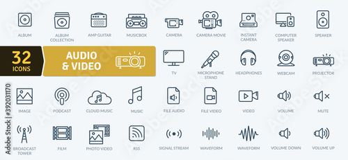 Photo Audio Video Icons Pack